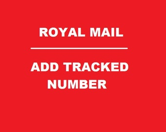 Add Royal Mail international tracking number to your parcel.