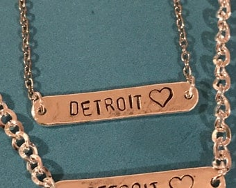 Detroit Michigan Necklace