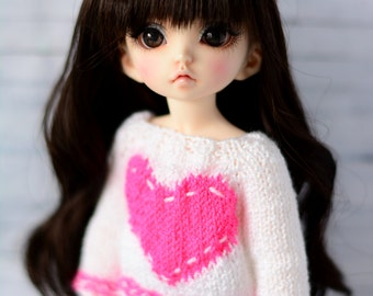 sweater for littlefee yosd bjd dolls tunic with heart