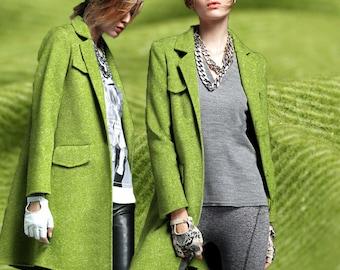 Knitted MatchaGreen Wool Fabric By The Yard Twill Dyed Fabric Coat Fabric Women Dress fabric Fashion Clothing Fabric Jacket Fabric -MOCHA