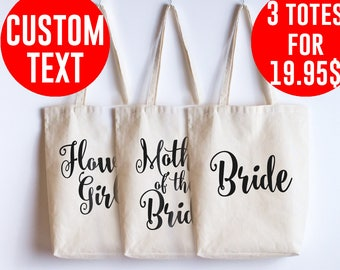Wedding bags Bridal party wedding tote bag Bridesmaid gift Wedding bag Wedding gifts