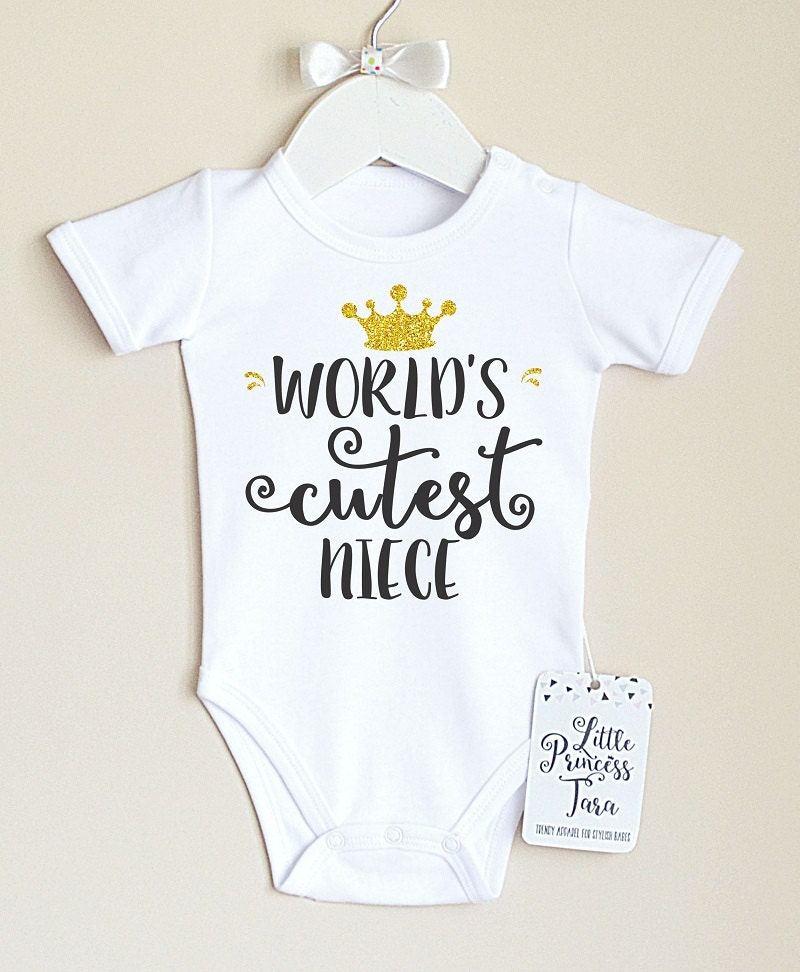 Baby Gifts From Great Aunt : World s cutest niece baby bodysuit aunt clothes