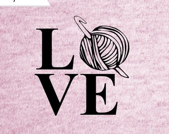 LOVE to CROCHET decal, crochet decal, I love to crochet car decal, yeti decal, love decal vinyl car decal