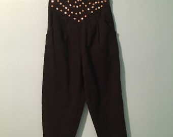 90's Bedazzled High Waisted Trousers
