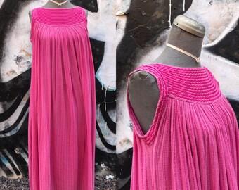 WFREE / 1960s Pink INDIA GAUZE Maxi Dress