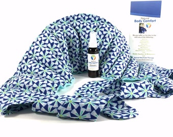 Heat therapy rice bag for Back Hip & Lumbar Pain Relief. Microwave or Cold for Relaxation. Fibromyalgia, Arthritis, Post Surgery, SHIPS FREE