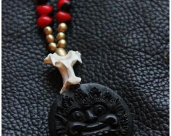 Horn Bali's Demon - Ethnic - Tribal - Spiritual - Legend - Travelling - Boho - Natural Seeds