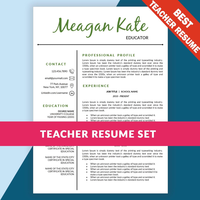 teacher resume template education resume teacher cv