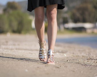 Women gladiator sandals, Platinum gold sandals, Women sandals, Gladiator sandals, Greek sandals, Roman Sandals, Sandals for women