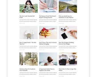 Elle & Blog Wordpress theme-Wordpress template- Feminine template - Responsive WordPress Theme - Fashion template - Wordpress blog theme