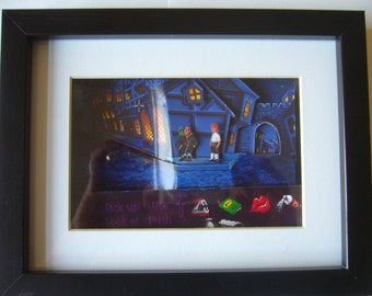 The Secret of Monkey Island 2 3D Shadow Box Diorama Art Amiga PC Pixel Art