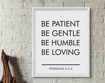 Bible verse wall art, Scripture Print, Christian Wall Art, Bible Verse print, Black White Print, Bible Quote print, Wall Art Printable