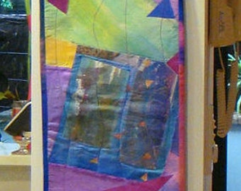 Art Quilt Wallhanging Silk Collage