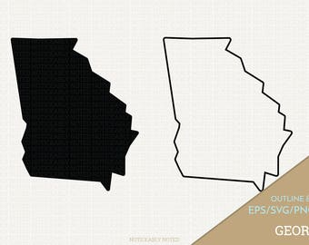 Georgia Vector, State Clipart, GA Clip Art, Georgia SVG, State PNG  (Design 13747)