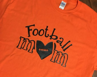 Football Mom Shirt - 2 Sides - YOU CHOOSE COLOR!