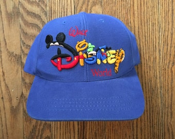 Vintage Deadstock Walt Disney World Snapback Hat Baseball Cap