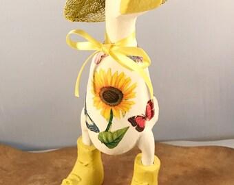 Small White Sunflower Duck