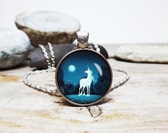 The Last Unicorn necklace unicorn pendant I love unicorns Amalthea the unicorn jewelry 80s cartoon favorites unicorn gift jewelry for teens