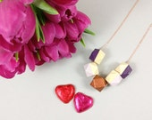 Geometric Necklace - Pink...