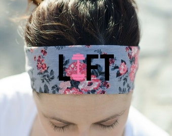 Fitness Headband - Workout Headband - Exercise Headband - Crossfit Headband - LIFT Headband - Womens Workout Gear - Headband for Working Out