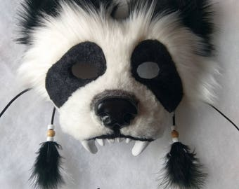 SOLD Spirit/Totem Animal Mask (Panda Bear) AVAILABLE made to order