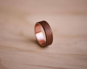 Etimoe & Copper Bentwood Ring