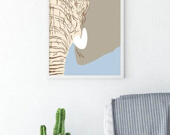 Nursery Safari Décor – Minimalist Poster - Elephant – Nursery Décor - Jungle Wall Décor – Wall Art – Teacher Gift – Bedroom Décor - Posters