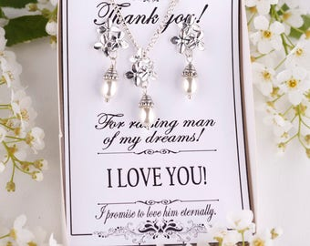 Mother of the groom gift from bride Mother of the groom necklace Mother of the Bride Gift Personalized Bridesmaids Gift Bridal Party Gift