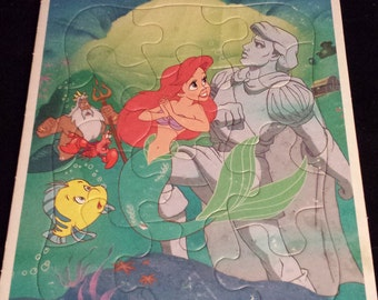Vintage 1990's Disney The Little Mermaid Frame-Tray Puzzle