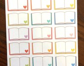 Extra Large Books Planner Stickers - Reading Planner Stickers - Book Planner Stickers - Half Box Book Planner Stickers - Book Stickers