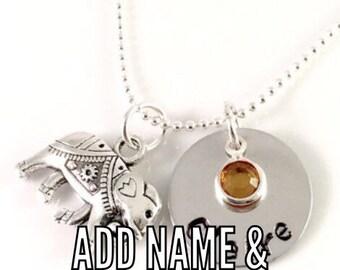 Add a Hand Stamped Name Disc or Name Disc & Birthstone