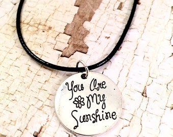You are my Sunshine necklace, sunshine charm necklace, You are my Sunshine Pendant, for her, for daughter, for best friend
