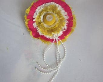 FABRIC BROOCH Bright Sunshine Summertime Jewelry