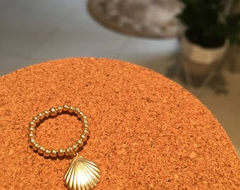 14K Gold Filled Ring - Sea Shell Charm