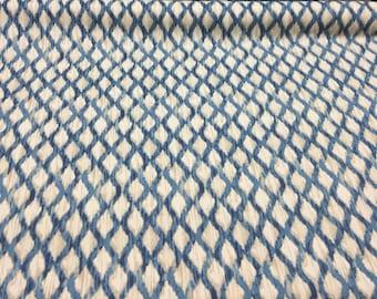 Floating Trellis Indigo  Kelly Ripa Upholstery Drapery Fabric  by the yard