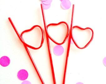 Heart straws. Unicorn party. Rainbow party. Plastic heart straws. Plastic heart. Heart party supplies. Plastic straws. Party straws. Rainbow