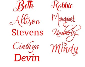 Personalized Name Decal/ Any Word Decal/ Custom Decal/ Yeti Decal/ Vinyl Word/ Decal Name Monogram