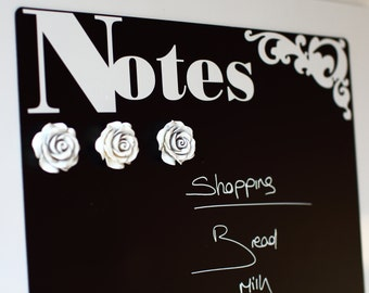 Magnetic chalkboard fridge panel A3 Notice board Meal Planner Drywipe organiser STUNNING & STYLISH