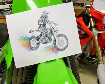 Rainbow Roost Dirt Bike/Motocross Print