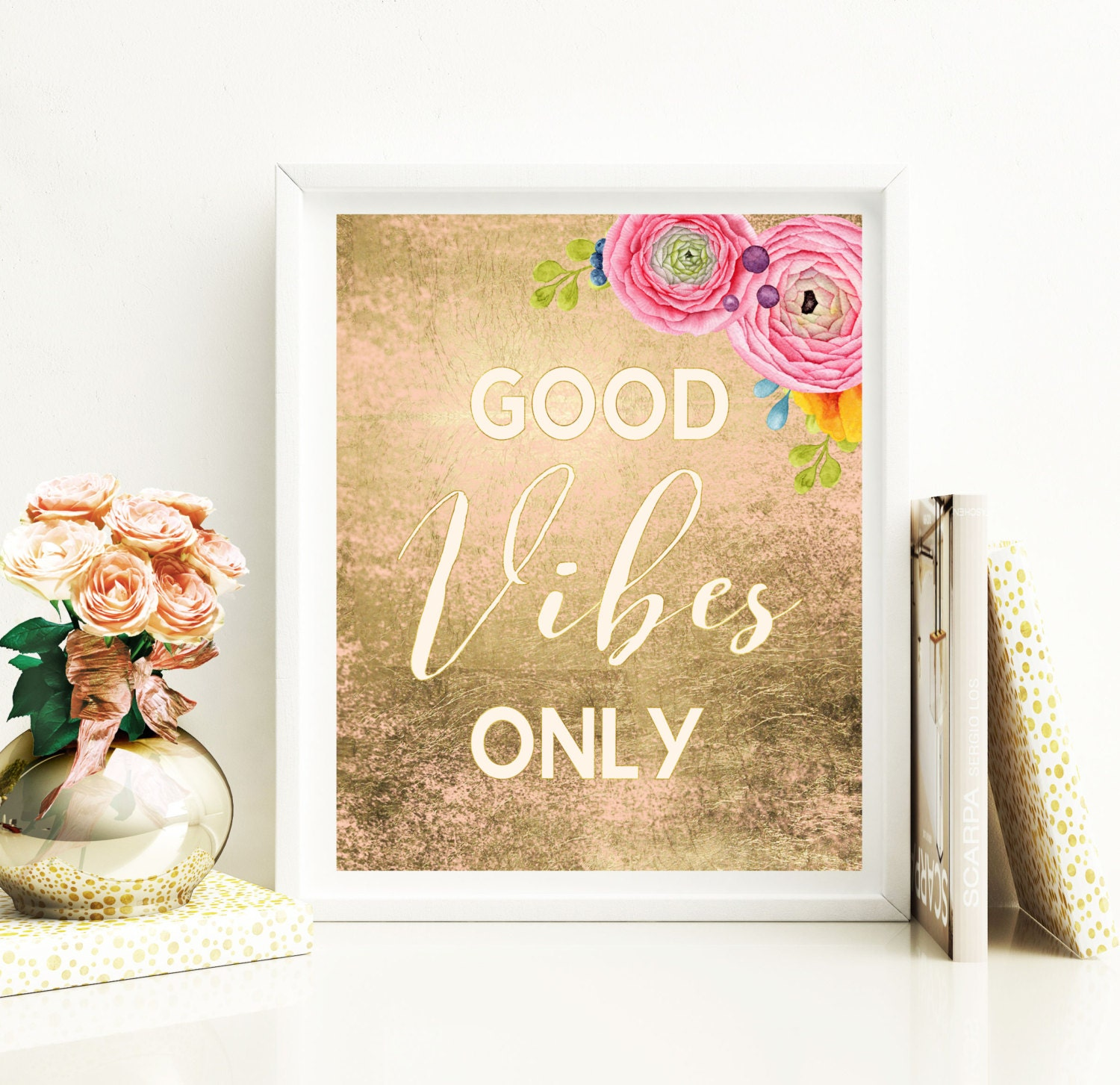 Christmas Gift Good Vibes Only Printable Gift For