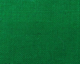 "Green Jute Fabric, Green Burlap, Natural Fabric, Home Decor Fabric, Burlap Fabric, 48"" Inch Wide Jute Fabric By The Yard ZJC15A"