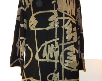 Unique Abstract Design, Light-Weight Cotton Jacket - SP15-5005