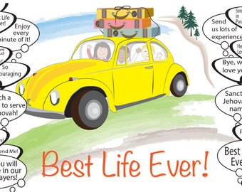 Best life ever card - Road Trip Card - Need Greater - Best life ever Jw - JW Pioneer School gifts - JW pioneer school - JW Pioneer gifts