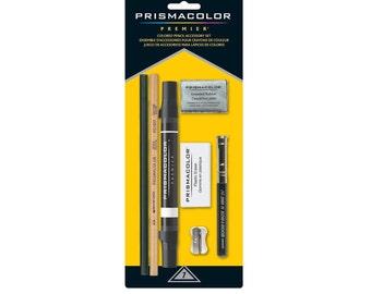 Prismacolor Premier Colored Pencil Accessory Set - 7 Piece | Graphite Pencil, Blender Pencil & Marker, Pencil Lengthener, Erasers, Sharpener