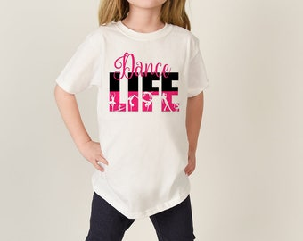 Girls' short sleeve box t-shirt in super soft single jersey fabric with good mechanical stretch. Small silver foil 'DANCE STUDIO' print logo on front and larger 'PINEAPPLE' on the back.