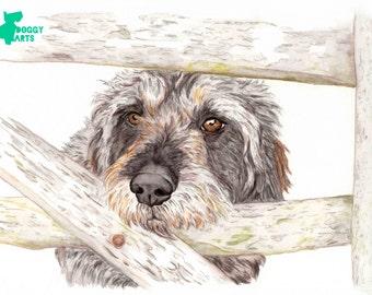 Custom Pet Portrait+Accesories-DIGITAL-Gift-Pet Portrait-Printable Art-Cat-Gift-Dog-Pet Illustration-Custom Portrait