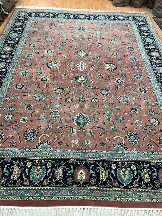 9' x 12' Pakistani Tabriz Oriental Rug - Very Fine - Hand Made - 100% Wool