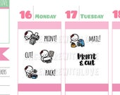 Munchkins - Print, Cut, Pack, and Mail Hand-Lettered Girl Boss Planner Stickers (M277)