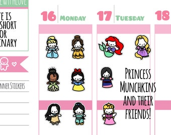 Munchkins - Princesses and Friends Planner Stickers (M213)