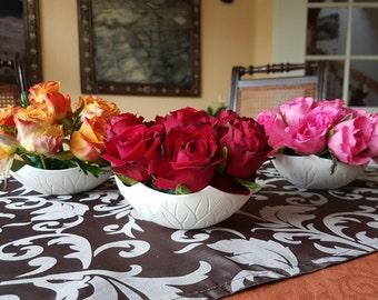 Porcelain bowl, flower Steckschale, snack tray